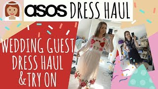 ASOS WEDDING GUEST DRESS HAUL