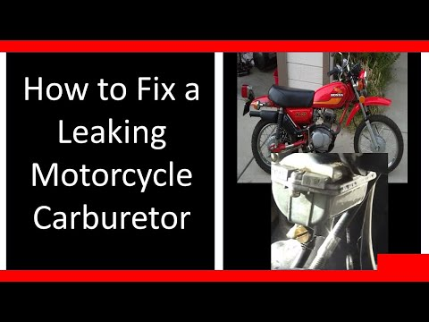 Carburetor / Carb Leaking Gas? How to Fix / Repair it. Motorcycle Honda DIY Tutorial clean
