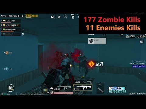"[Hindi] PUBG Mobile | ""177 Zombie kills & 11 Enemies Kills"" Winner Winner Chicken Dinner"