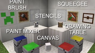 OpenBlocks Bit-by-Bit: Paint Mixer, Drawing Table, and painting supplies!