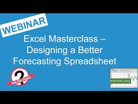 Webinar Replay - Excel Masterclass - Designing a better forecasting spreadsheet