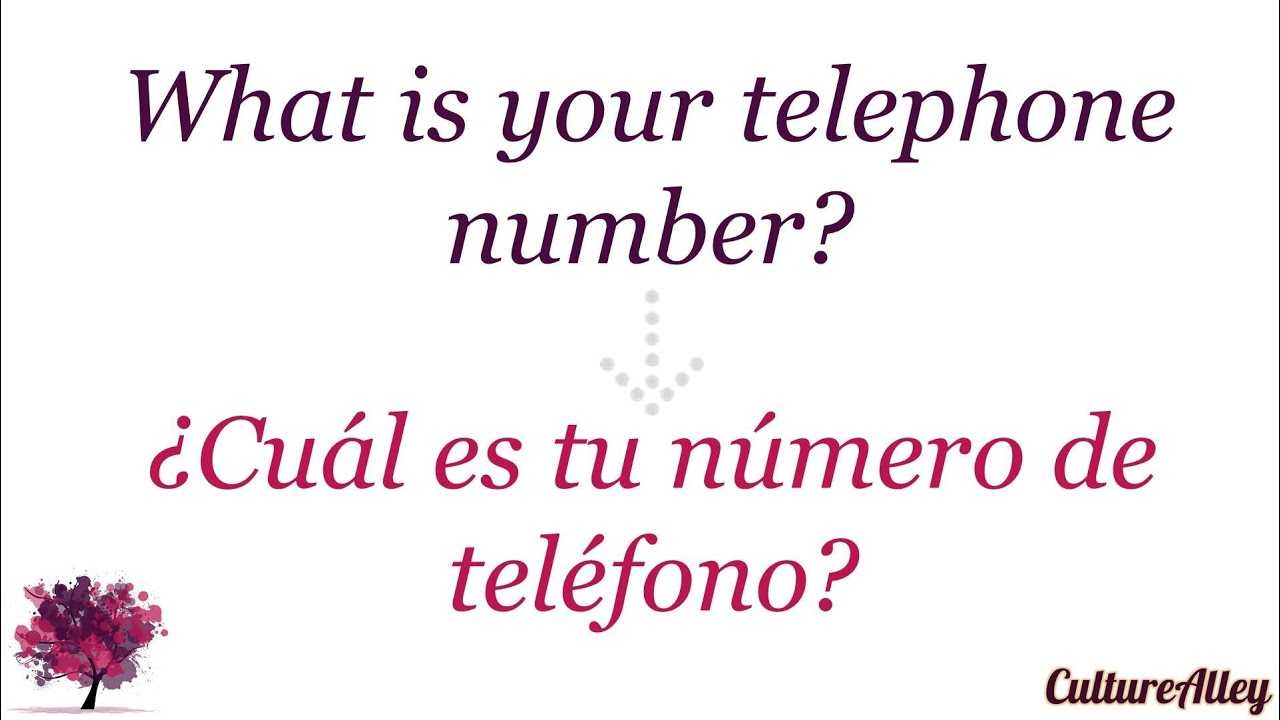 What Is Your Telephone Number In Spanish Youtube