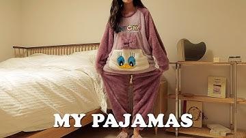 광고NO! 집콕 필수템, 싸고 질좋은 가성비 잠옷 소개💜  뉴 잠옷 언박싱! (역대급 텐션)
