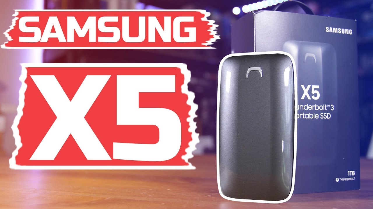 Samsung X5 Thunderbolt 3 SSD Overview