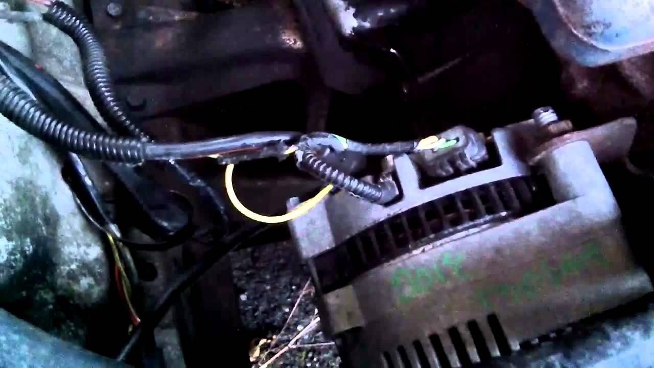 85 Ford F250 Wiring Diagram 1g To 3g Alternator Upgrade Youtube