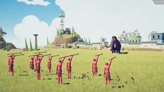 10 SPEAR THROWERS vs ALL UNITS - Totally Accurate Battle Simulator TABS