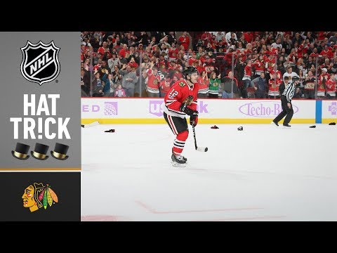 Alex DeBrincat records his first career hat trick