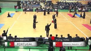 17th World Kendo Championships 4ch R.SACRMENTO(POR) vs Y.TONG(CHN)