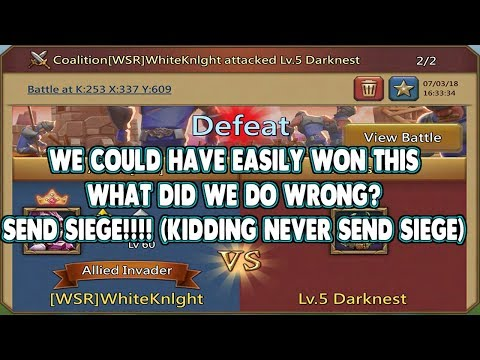 Darknest Level 5, Why Did We Fail?  Lords Mobile