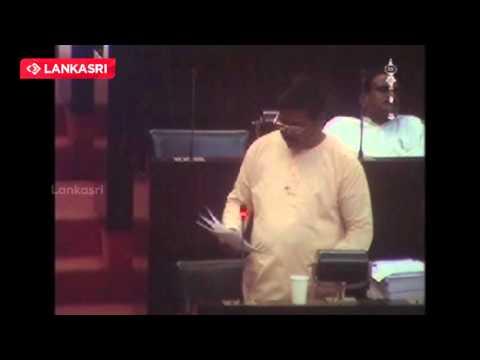 MP Sritharan  speech