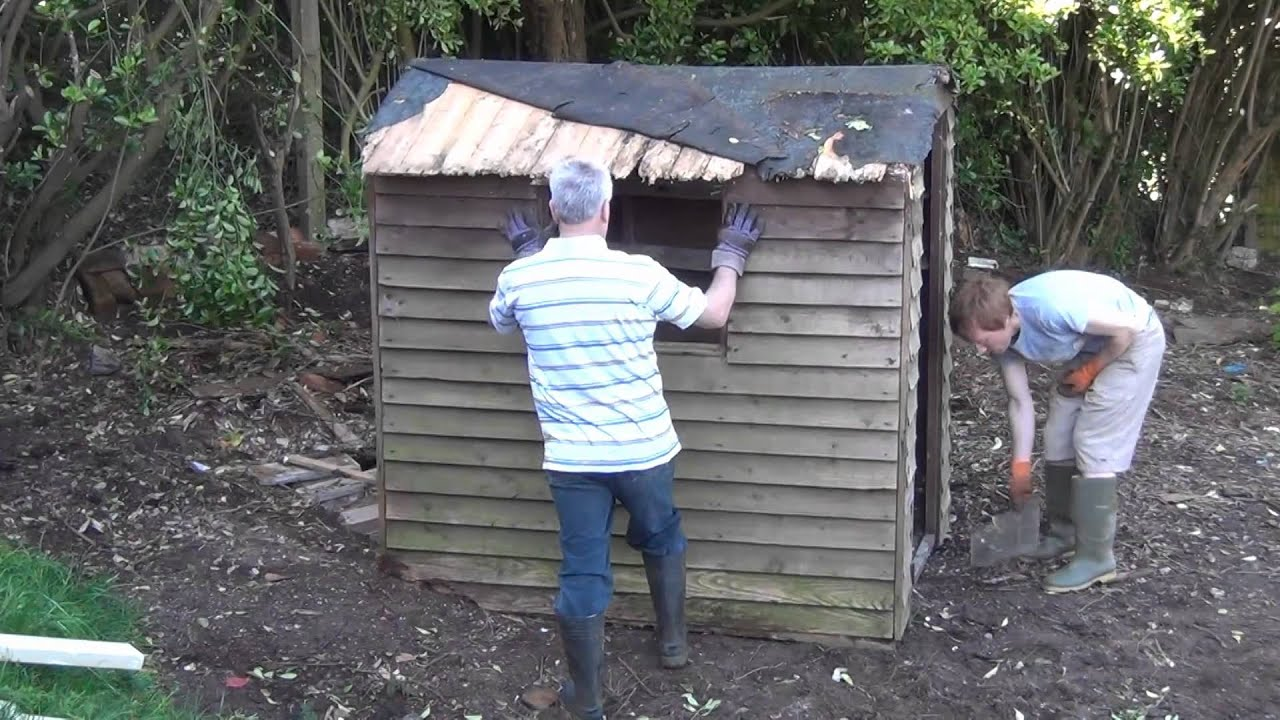 How Not To Move >> How Not To Move A Shed Youtube