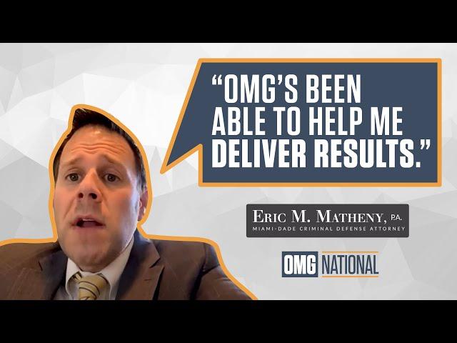 OMG National Testimonial - The Law Office of Eric M. Matheny