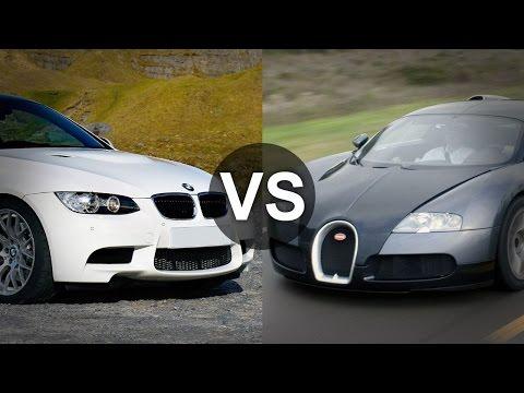 Bugatti Veyron vs  BMW M3 E92
