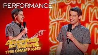 OMG! Does This Comedian ESCAPE The Judges' Buzzers?! - America's Got Talent: The Champions
