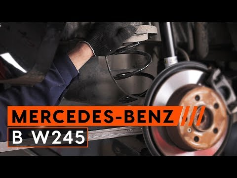 How to replace rear springs MERCEDES-BENZ B W245 [TUTORIAL AUTODOC]