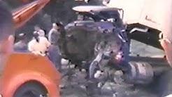 Train Wreck US 90 with Dumptruck Pensacola Florida 1966