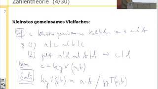 Informationssicherheit (SS 2013), Grundlagen - Zahlentheorie