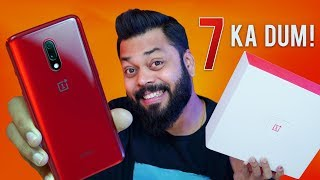 OnePlus 7 Detailed Unboxing & First Impressions ⚡ A Worthy Upgrade!!