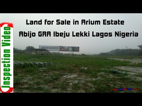 Land For Sale in Arium Estate Ibeju Lekki Lagos Nigeria