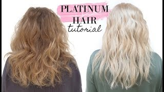 How to go PLATINUM BLONDE  in one day!