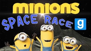 Minions Go to Space!!! | SPACE RACE ~ Gmod