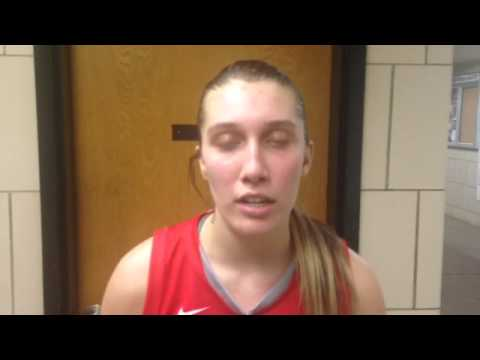 Jenna Stegmaier talks after Cuyahoga Heights defeats Berlin Center Western Reserve