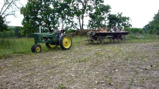 Antique Hay Wagon Ride John Deere B Tractor