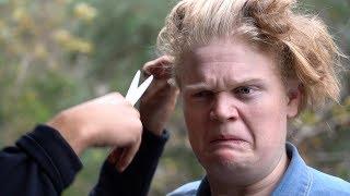 Cutting Jaxon's hair