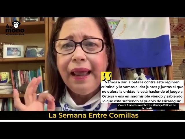 Violeta Granera: Vamos a dar la batalla contra este régimen criminal
