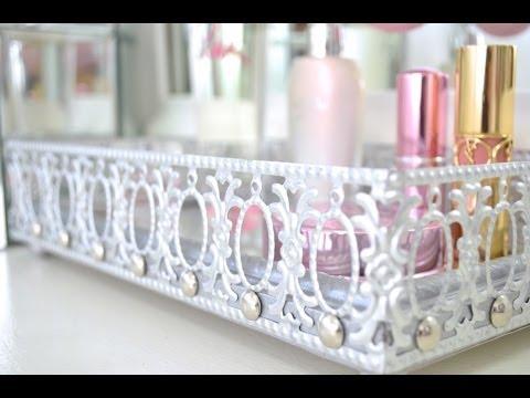 DIY Mirrored Vanity Tray