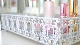 DIY Mirrored Vanity Tray