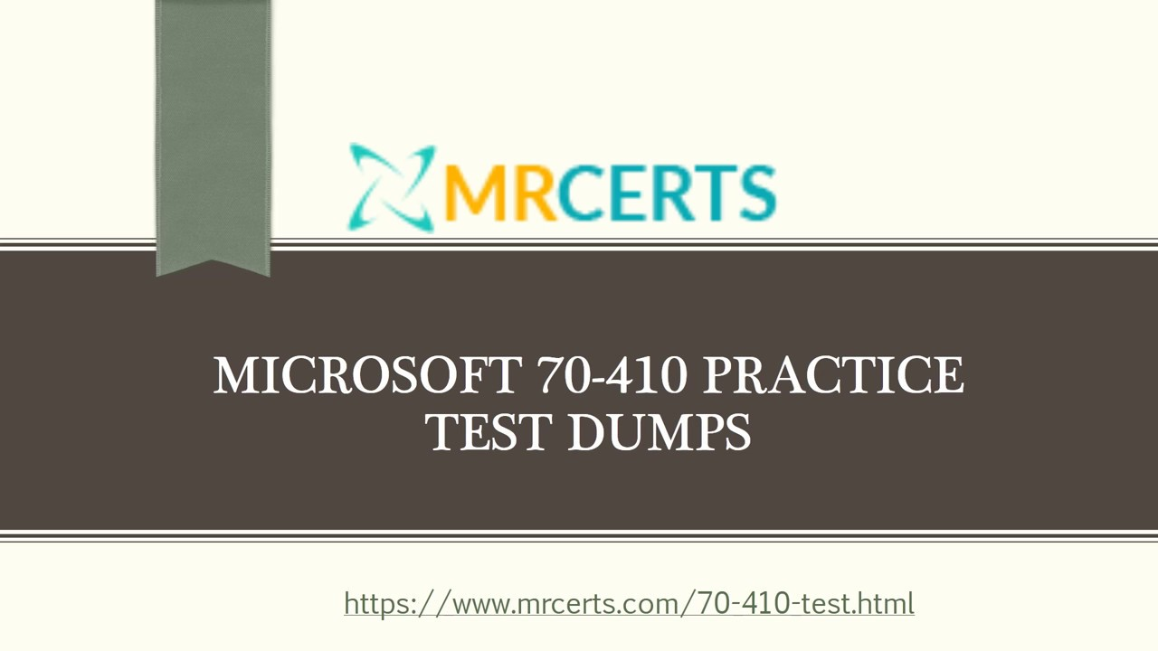 Latest Microsoft 70 410 Practice Test Dumps 70 410 Real Exam