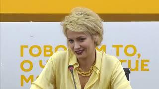 Полина Максимова в мультимедийном пресс-центре Sputnik Беларусь