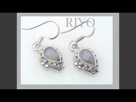 925 sterling silver earrings handmade silver earrings www.riyogems.com