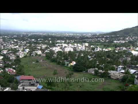Panoramic view of Satara City, Maharashtra