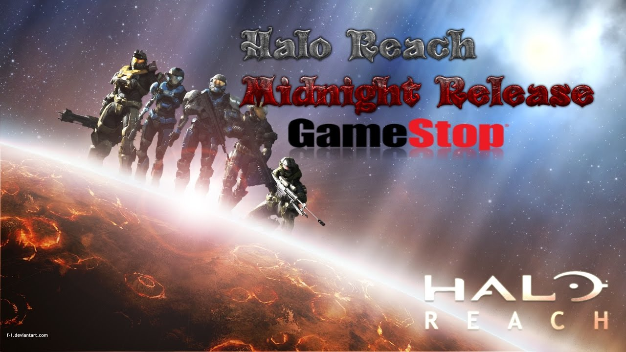 Me At The Gamestop Halo Reach Midnight Release Youtube