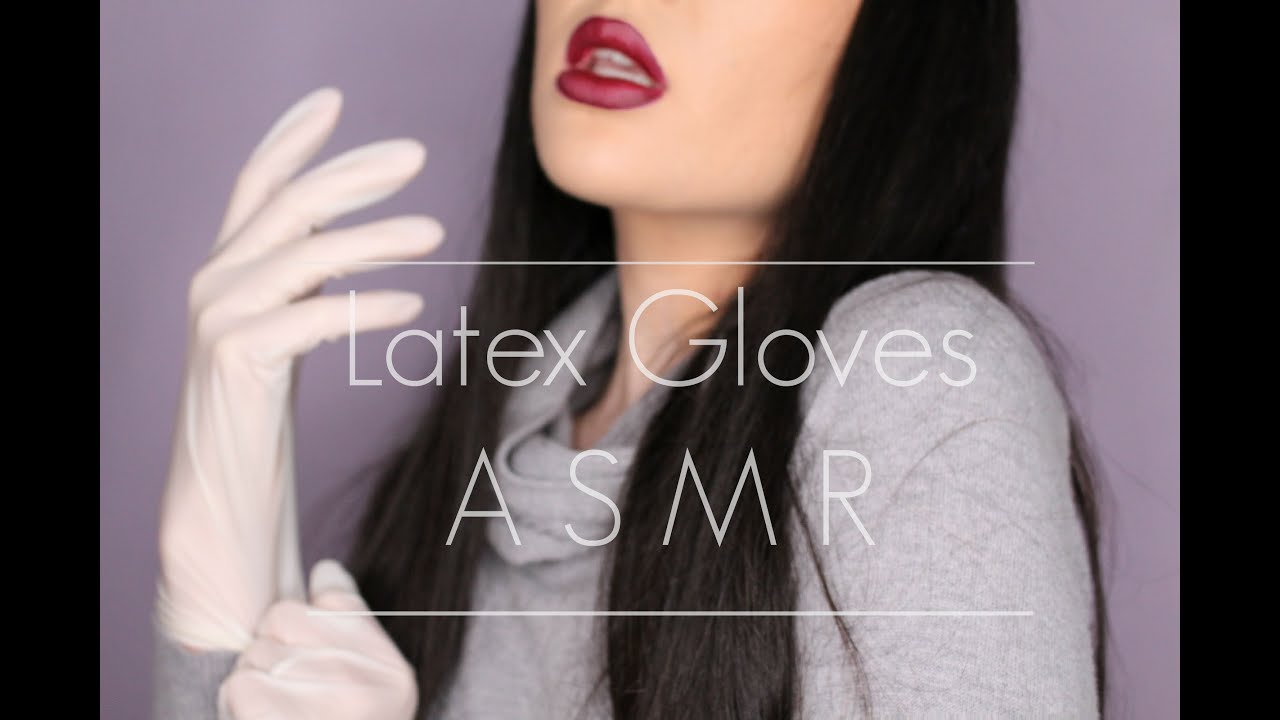Latex glove asmr