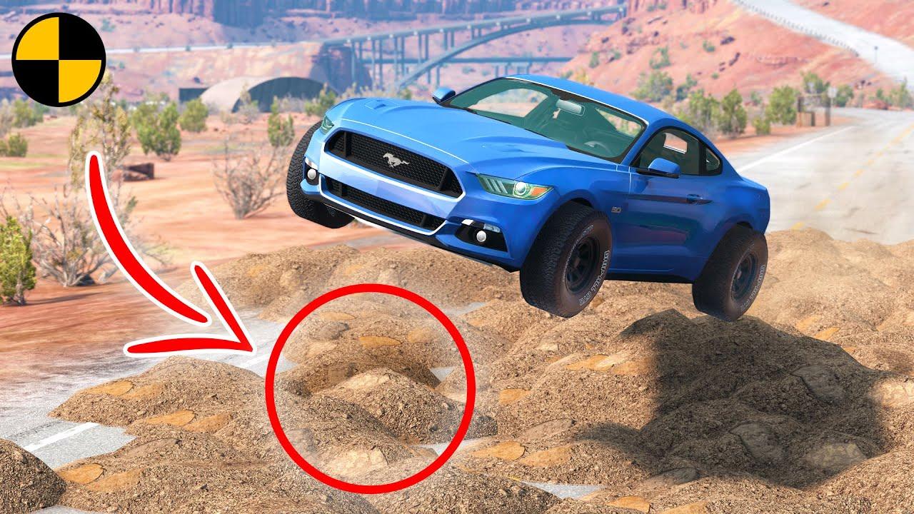 Cars vs Sand Heaps 😱 BeamNG Drive