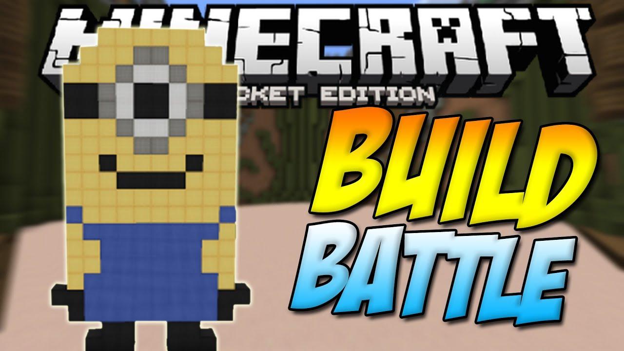 minecraft pe server build battle minigame