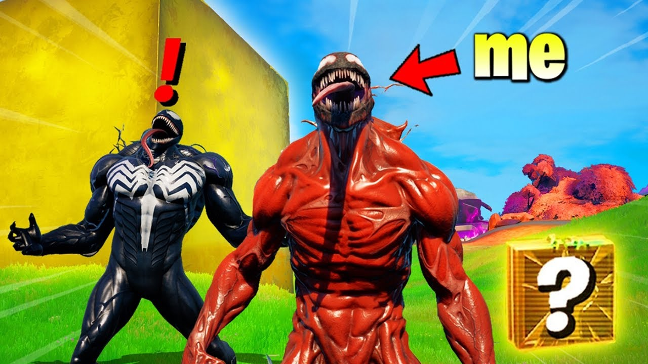 I Pretended to be CARNAGE in Fortnite