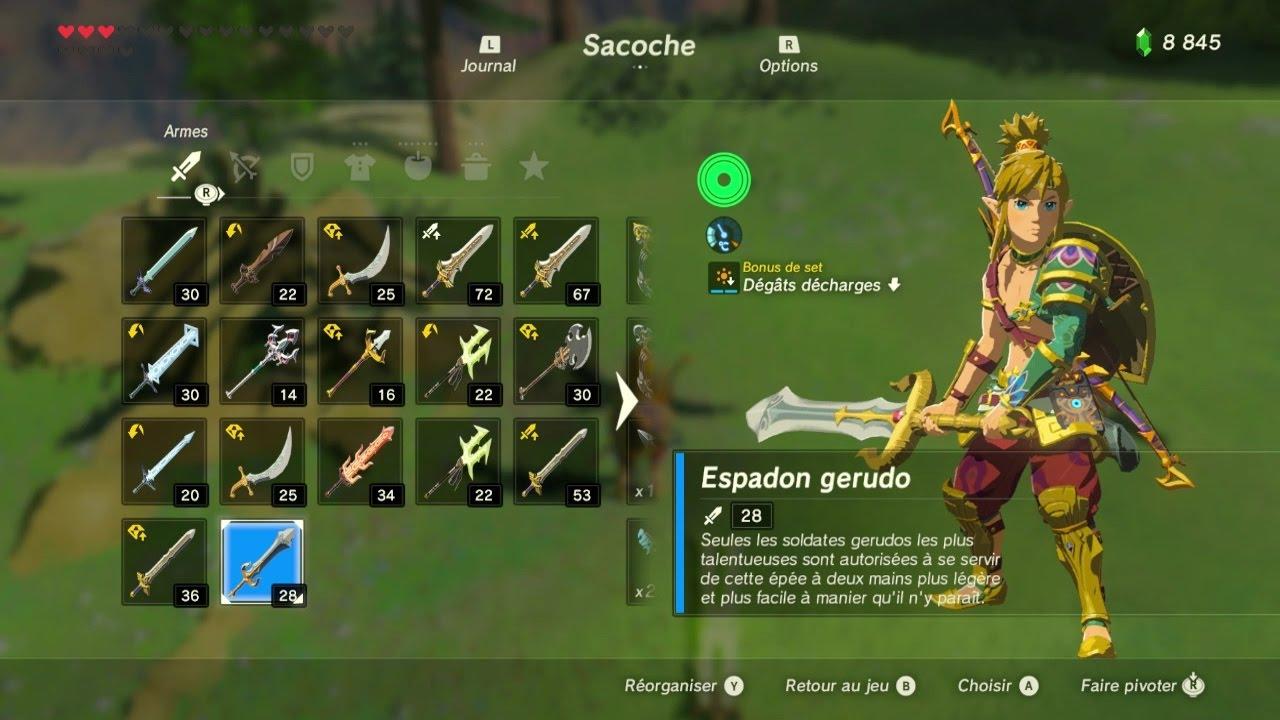 Zelda breath of the wild hs emplacement arme 3 espadon for Housse zelda pour switch