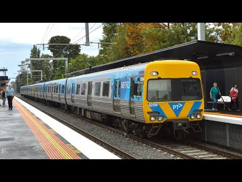 Trains at the new Southland station (opening day) - Metro Trains Melbourne