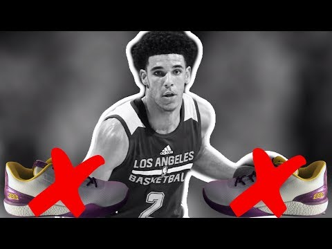 WHY DOESN'T LONZO BALL WEAR HIS OWN ZO2 SHOES?! WEARS KOBES,