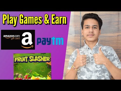 Play Games and Earn Paytm Cash and Get free Amazon Vouchers . Self Earning app