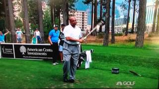 Charles Barkley golf swing Lake Tahoe 2014