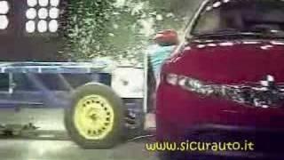 Crash Test EuroNCAP Honda Civic (2006) www.sicurauto.it