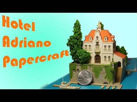 Japanese Miniature Paper Craft | Hotel Adriano | Warning kids, we say bad words