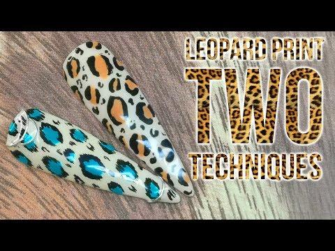 Leopard Print Two Techniques - WILD NAILS!