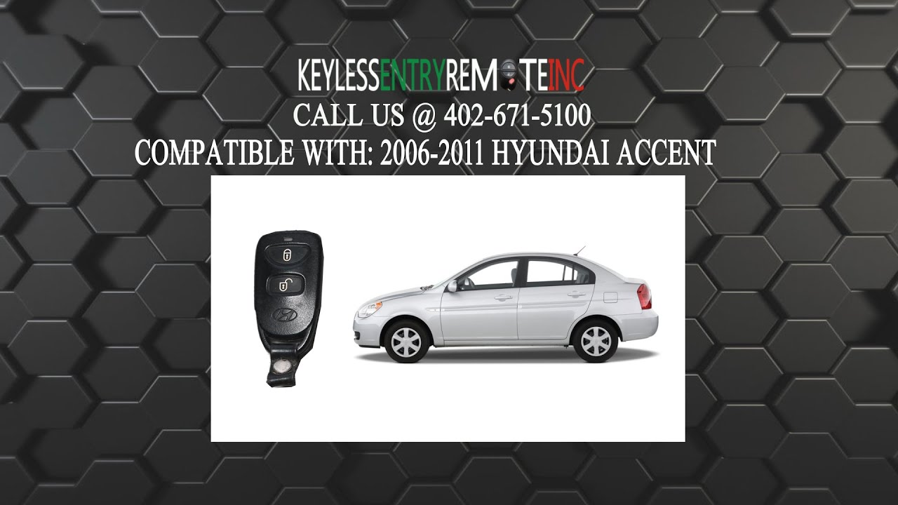 How To Replace Hyundai Accent Key Fob Battery 2006 2007