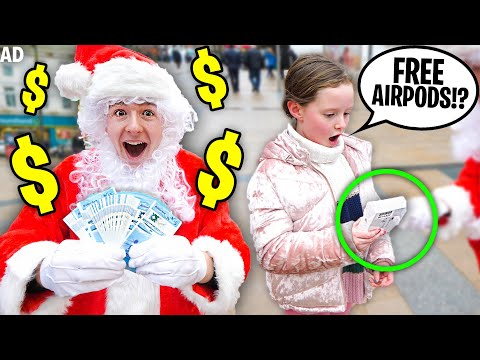 Giving Strangers FREE Gifts Dressed As SANTA *emotional*